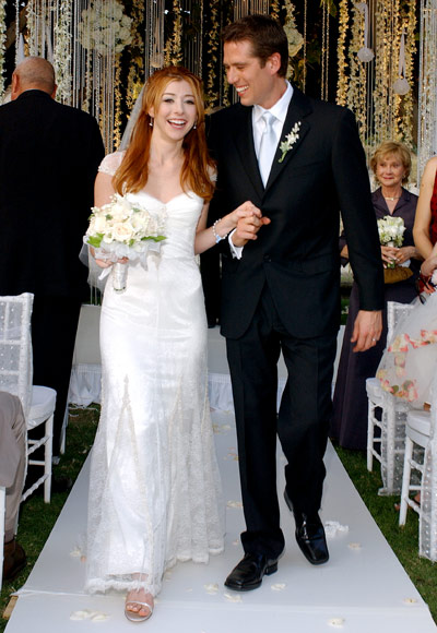 In October 2003, Alyson Hannigan and Alexis Denisof got married during ...