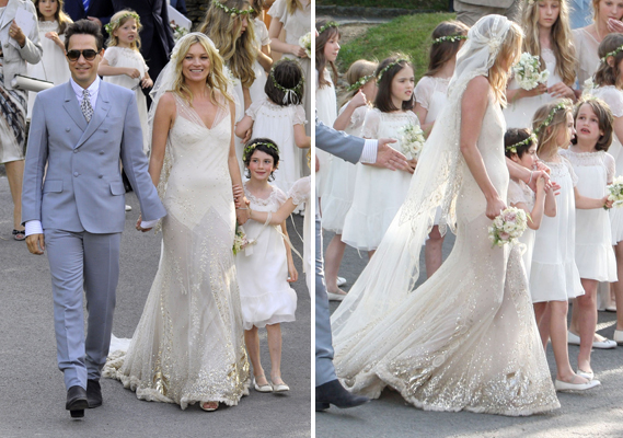 Kate Moss wedding dress | illuminate my event