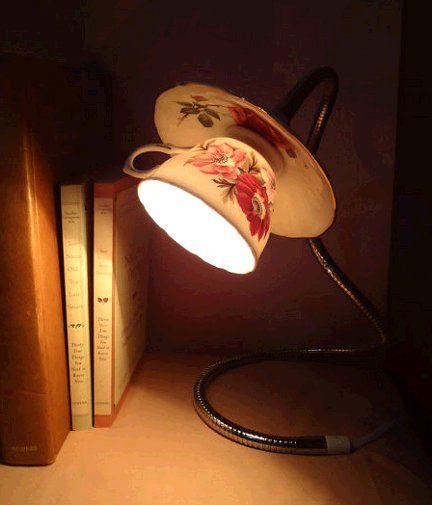 teacup lamp