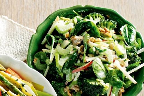 brocolli with waldorf salad