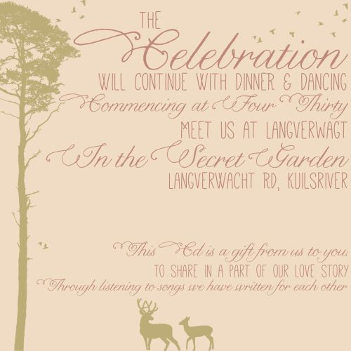 Glen and Kelly's invitation 2