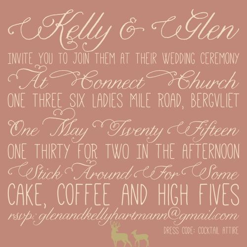 Glen and Kelly's wedding